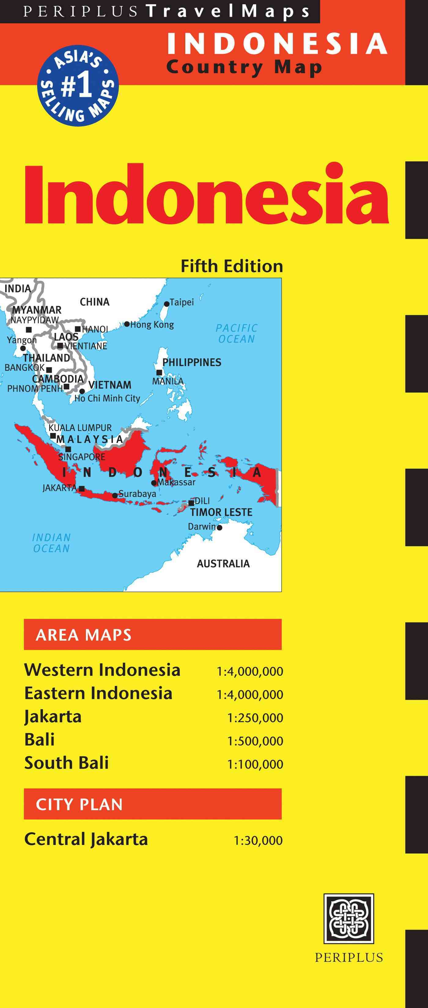 Indonesia Travel Map By Periplus Editions (COR)